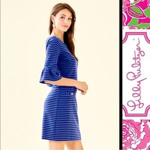 Lilly Pulitzer Alden Dress in Blut Grotto XL NWT